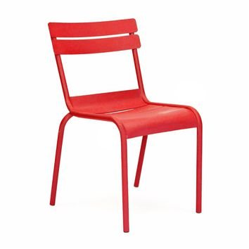 Chatou Red Stackable Metal Side Chair (Set of 4)