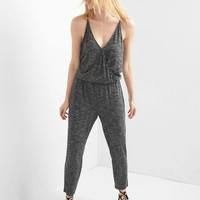 Space dye wrap jumpsuit | Gap