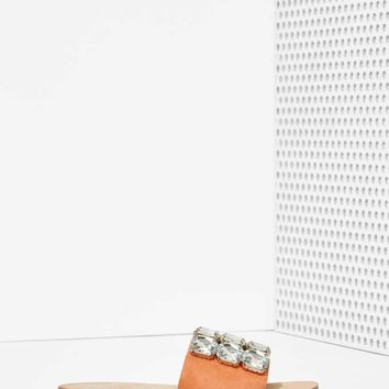 Jeffrey Campbell Darjana Jeweled Suede Slide