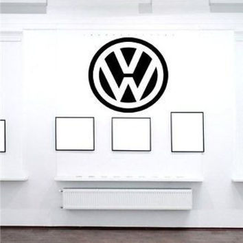 Car Logo Dealership Garage Volkswagen Gti Jetta Wall Art Sticker Decal t92