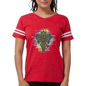 Elephant Zentangle Doodle Art Womens Football Shirt