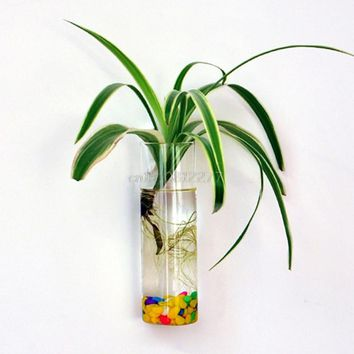 Wall Hanging Glass Flower Planter Vase Plant Pot Terrarium Home Garden Decor #H0VH# Drop shipping