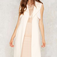 Mixed Messages Sleeveless Trench