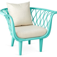 Amsterdam Rattan Bucket Chair, Sea Glass, Accent & Occasional Chairs