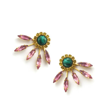 Fayth Earrings, Sunny Ruby