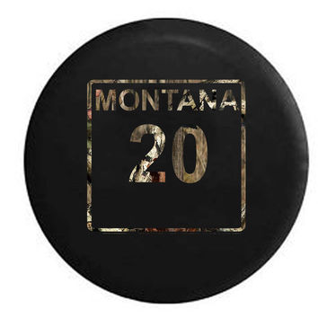 Montana State Route Highway 20 Scenic Road Sign RV Camper Jeep Spare Tire Cover