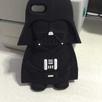For iPhone 4 4S Case 3D Soft Silicone Star Wars Darth Vader Free Shipping