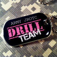 JROTC Drill Team Dog Tag Necklace with Chain by CADETcouture