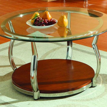 He-3302-01 Wells Collection Round Cocktail Table Base