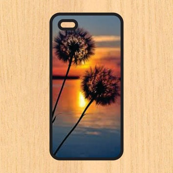 Dandelions and Sunset Phone Case iPhone 4 / 4s / 5 / 5s / 5c /6 / 6s /6+ Apple Samsung Galaxy S3 / S4 / S5 / S6