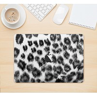 """The Real Snow Leopard Hide Skin Kit for the 12"""" Apple MacBook"""