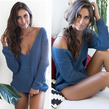 Casual Sexy Tops Sweater [52171735066]