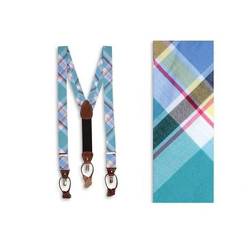 Mint Julep Madras Suspenders/ Brace by High Cotton