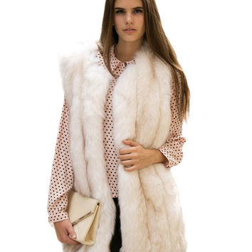 Sleeveless Faux Fur Coat