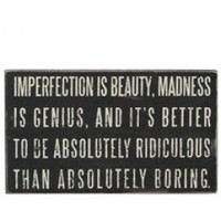 imperfection plaque