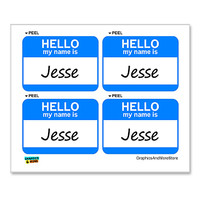 Jesse Hello My Name Is - Sheet of 4 Stickers
