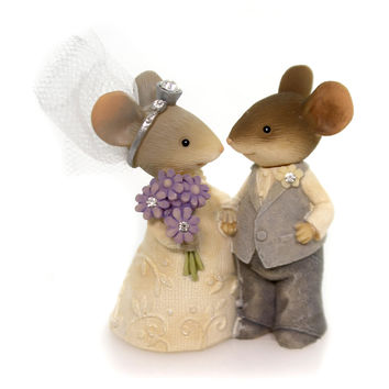 Figurine Wedding Couple Mouse Figurine Figurine