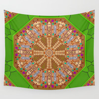 sweet crackers with chocolate mandala Wall Tapestry by Pepita Selles