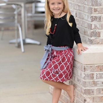Girls Gameday Emb Skirt
