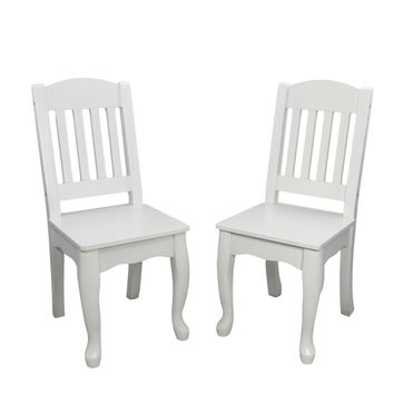 Teamson Kids - Windsor Set of 2 Chairs - White
