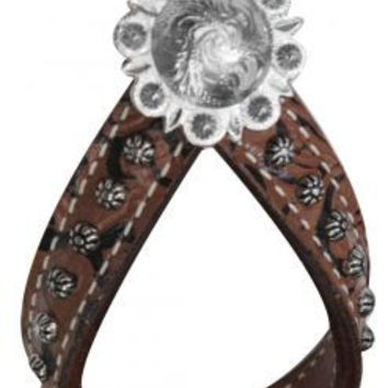 Brown Filigree Tie Down Keeper