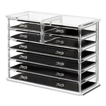 Saganizer 8 Drawer Jewelry Chest and Makeup Organizer, 12.37L by 6W by 11H