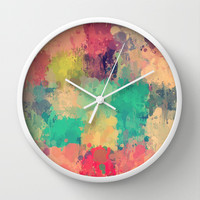 Vintage drip paint rug by healinglove Wall Clock by Healinglove products
