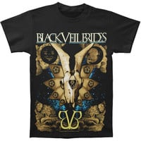 Black Veil Brides Men's  Etched T-shirt Black Rockabilia