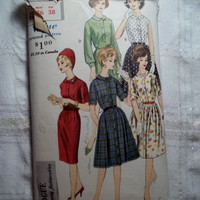 Complete 1950's Vogue Sewing Pattern, 5380! Size 16 Bust 36 Medium/Large/Women's/Misses/