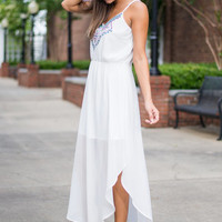Just Can't Get Enough Maxi Dress, White
