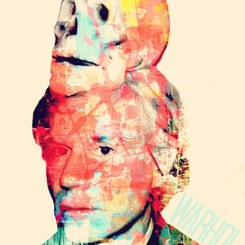 KiNg OF PoP (Andy Warhol) - Digital Art Print - MULTIPLE SiZES AVAiLABLE