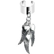 Handcrafted Angel Wings Dangle Ear Cuff | Body Candy Body Jewelry