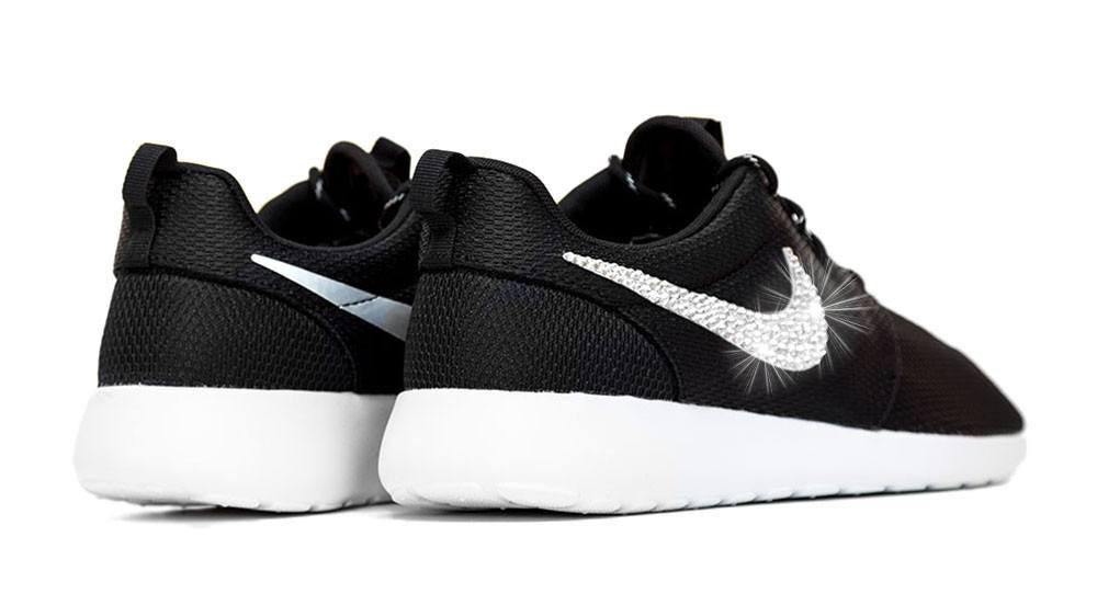 Nike Roshe One + Crystals -Black White from Glitter Kicks  a42d72ebc7