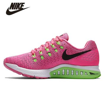 OPAL FERRIE - Pink /Green/White Nike Air Zoom Structure Women's Running Shoes