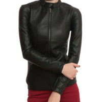 Joan Jett Tripp NYC Black Pleather Jacket
