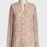 bohemian paisley button-up at ShopRuche.com
