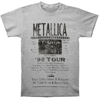 Metallica Men's  92 Poster T-shirt Grey
