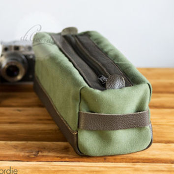 Toiletry bag  dopp kit dopp kit bag men's toiletry bag shaving kit bag waxed canvas dopp kit bag travel bag handmade dopp kit military green