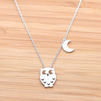OWL & CREST necklace, in silver