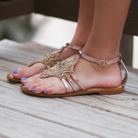 NAUGHTY MONKEY High Society Rose Gold Sandal