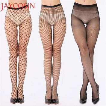 2017 Sexy Fishnet Stockings Women Mesh Stocking Sexy Pantyhose Nylon Tights Ladies Black Long Stockings Over the Knee Sock Ma3