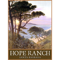 Personalized Hope Ranch Beach Santa Barbara Wood Sign