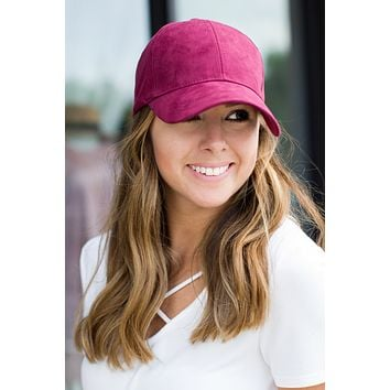 Suede Baseball Hat (Multiple Colors)