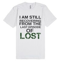 Recovering From Lost-Unisex White T-Shirt