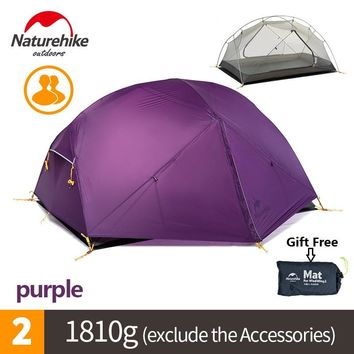 Naturehike factory sell Mongar 2 Camping Tent Double Layers 2 Person Waterproof Ultralight Dome Tent DHL free shipping