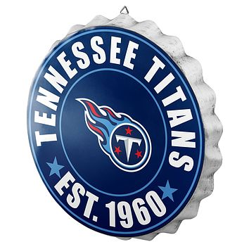 Tennessee Titans Man Cave Bottlecap Wall Sign