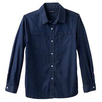 French Toast Chambray Button-Down Shirt - Boys