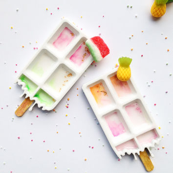 3d printed - handpainted - trinket dishes - ring dishes - jewelry - popsicle - cute desk accessories - pastel - 3d wall decor