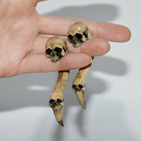 SKULL - plugs skull - gauges skull - plugs - HALLOWEEN gift - Gauges - Skull jewelry - Skull Earring - Ear Plugs - earrings - ear gauges
