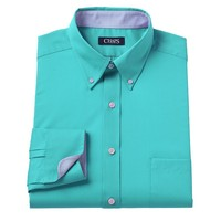 Chaps Classic-Fit Solid Twill No-Iron Button-Down Collar Dress Shirt - Men, Size: